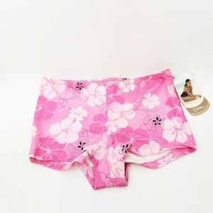 NWT Catalina Pink Floral Swim Suit Bottoms K01